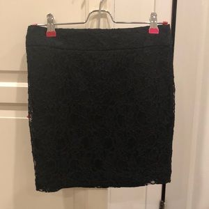 Black Lace Skirt from Express